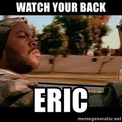 IceCube It was a good day - Watch your back Eric