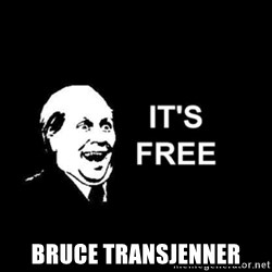 it's free -  Bruce Transjenner