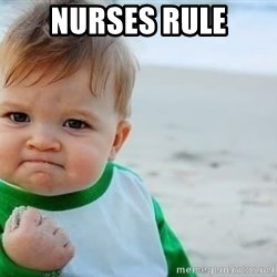 fist pump baby - NURSES rule