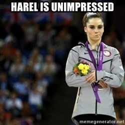 unimpressed McKayla Maroney 2 - Harel is Unimpressed