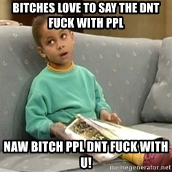 Olivia Cosby Show - BITCHES LOVE TO SAY THE DNT FUCK WITH PPL NAW BITCH PPL DNT FUCK WITH U!