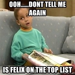 Olivia Cosby Show - ooh......dont tell me again Is FELIX on the top list