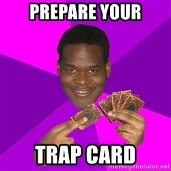 Cunning Black Strategist - Prepare your trap card
