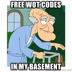 herbert - FREE wot codes in my basement