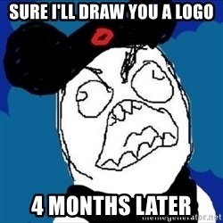 runDisney Rage - Sure I'll draw you a logo 4 months later