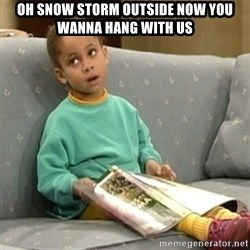 Olivia Cosby Show - Oh snow storm outside now you wanna hang with us