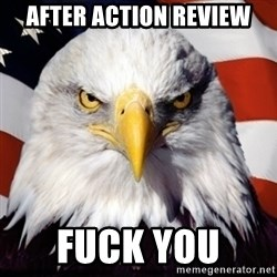 Freedom Eagle  - After action review Fuck YOu