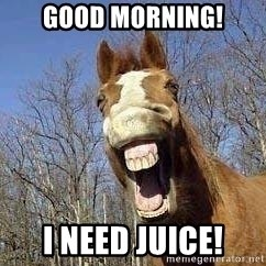 Horse - Good Morning! I Need Juice!