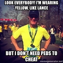 MikeRossiCheat - look everybody! i'm wearing  yellow, like lance but i don't need peds to cheat