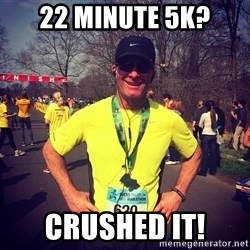 MikeRossiCheat - 22 minute 5k? crushed it!