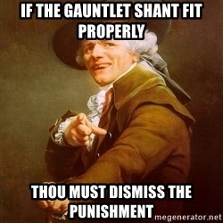 Joseph Ducreux - If the gauntlet shant fit properly Thou must dismiss the punishment