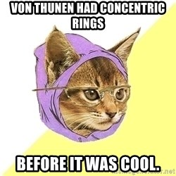 Hipster Cat - von Thunen had concentric rings Before it was cool.