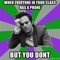 Forever Alone Bruce - When everyone in your class has a phone But you dont