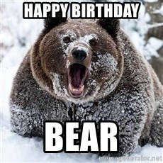 Cocaine Bear - Happy Birthday Bear