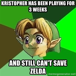 Link - Kristopher has been playing for 3 weeks and still can't save Zelda