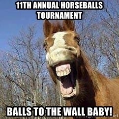 Horse - 11th Annual Horseballs Tournament Balls to the wall baby!