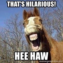 Horse - THAT'S HILARIOUS! HEE HAW