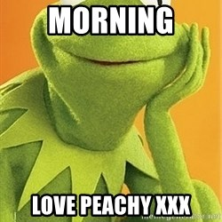 Kermit the frog - Morning  Love Peachy xxx