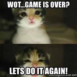 Adorable Kitten - Wot...game is over? LETS DO IT AGAIN!