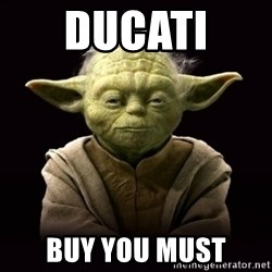 ProYodaAdvice - DUCATI  BUY YOU MUST