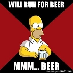 Homer Jay Simpson - Will run for beer mmm... beer
