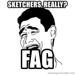 FU*CK THAT GUY - Sketchers, really?  Fag