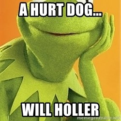 Kermit the frog - A hurt dog... will holler