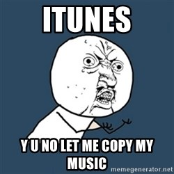 y u no work - ITUNES y u no let me copy my music
