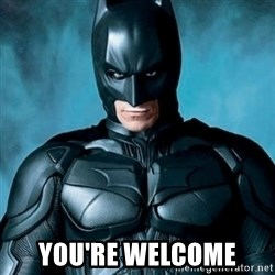 Blatantly Obvious Batman -  You're Welcome