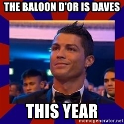 CR177 - The Baloon d'or is Daves this year