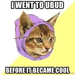 Hipster Cat - i went to ubud before it became cool