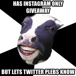 Restaurant Employee Cow - HAS INSTAGRAM ONLY GIVEAWAY BUT LETS TWITTER PLEBS KNOW