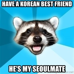 Lame Pun Coon - Have a korean best friend He's my Seoulmate