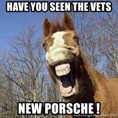 Horse - Have you seen the Vets New Porsche !