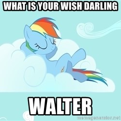 Rainbow Dash Cloud - What is your wish darling  Walter