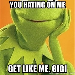 Kermit the frog - You Hating On Me Get Like Me. GiGi
