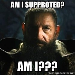 The Mandarin - Am I supproted? Am I???
