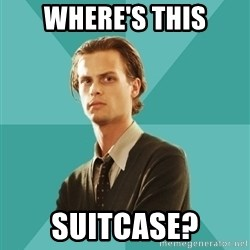 spencer reid - where's this suitcase?