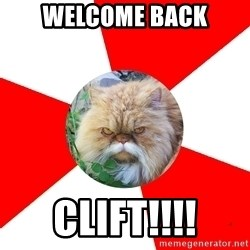 Diabetic Cat - WELCOME BACK CLIFT!!!!