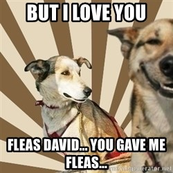 Stoner dogs concerned friend - But I love you Fleas David... You gave me fleas...