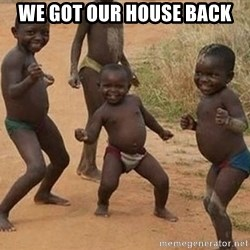 Dancing african boy - We got our house back