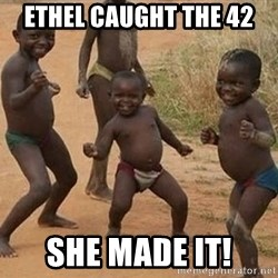 Dancing african boy - Ethel caught the 42  She made it!