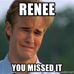 Crying Man - renee you missed it
