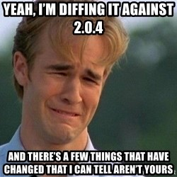 Crying Man - yeah, I'm diffing it against 2.0.4  and there's a few things that have changed that I can tell aren't yours