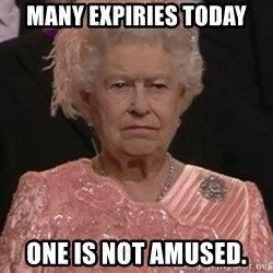 the queen olympics - Many expiries today One is not amused.