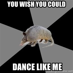 English Major Armadillo - YOU WISH YOU COULD  DANCE LIKE ME