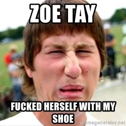 Disgusted Nigel - zoe tay fucked herself with my shoe