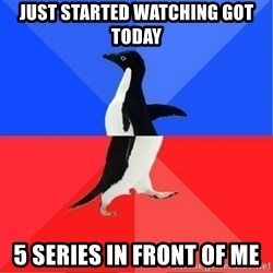 Socially Awkward to Awesome Penguin - just started watching got today 5 series in front of me