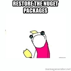 sad do all the things - restore the nuget packages