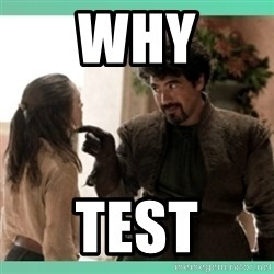 What do we say - why test
